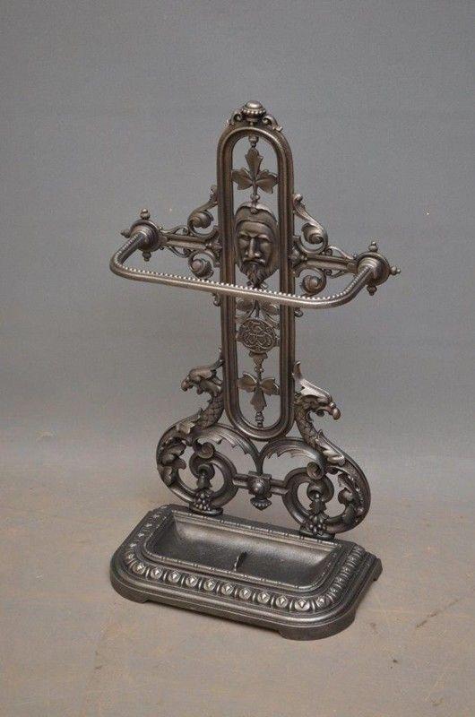Victorian Cast Iron Umbrella Stand Decorative Collective