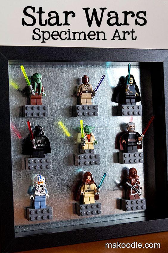 Star Wars Decor Ideas Lego Specimen Art Makoodle