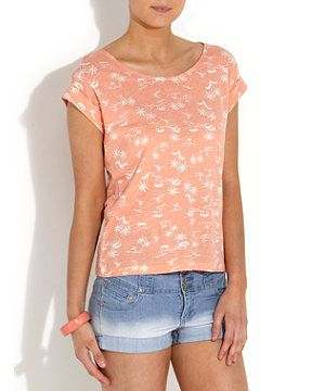Coral Beach Boxy Top| New Look £9.99