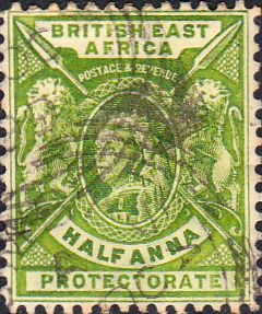 British East Africa 1895 Queen Victoria India Overprint SG 13 Fine Used Scott 17 Other british Commonwealth Stamps for sale Here