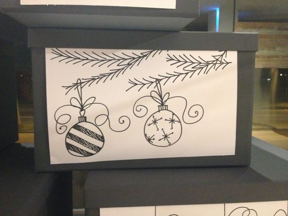 diy christmas decoration. drawings