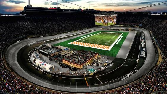 Watch this time lapse video showing the race track turn into a football stadium. The Battle at Bristol Motor Speedway football game is this Saturday https://racingnews.co/2016/09/06/battle-bristol-motor-speedway-bristol-football-game/ #battleatbristol