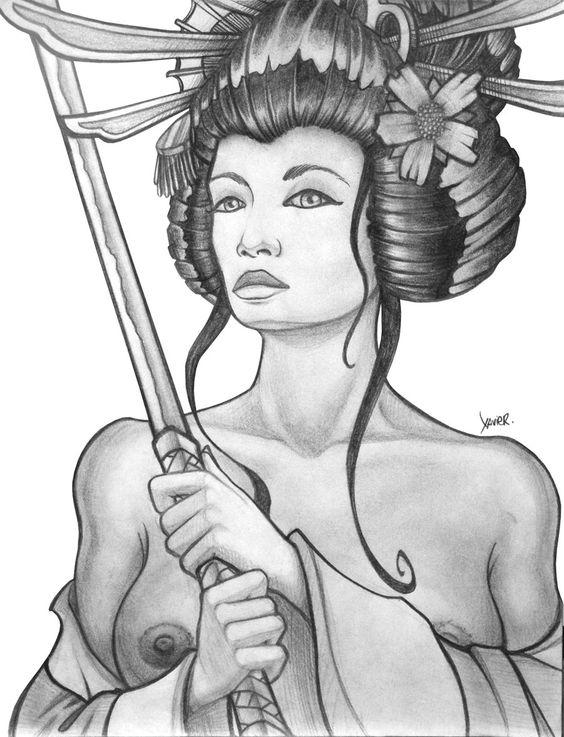 Grabado de Geisha - Daliclick
