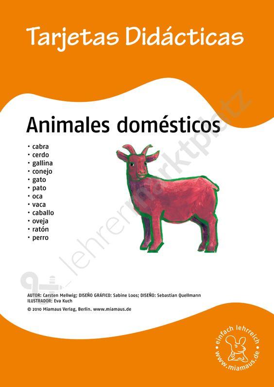 Bildkarten Spanisch: animales domésticos
