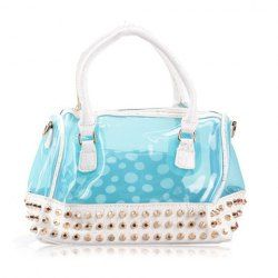 $16.51 Trendy Style Women's Totes With Rivets and Transparent Design