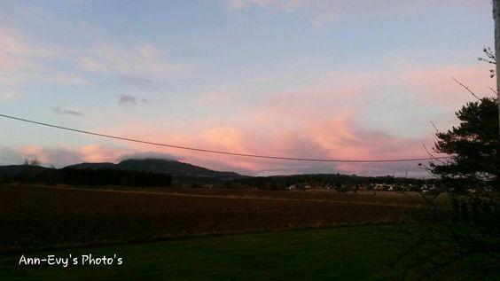 Sunset January 21st.  Brennsmork 5,Huset,2074 Eidsvoll Verk my home