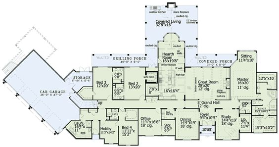 Plan 60568nd luxury plan with garage apartment offices for Luxury garage plans