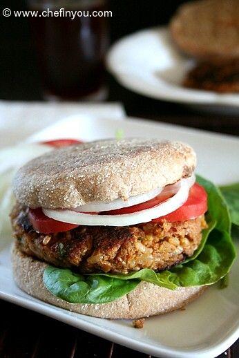 Veggie Gardenburger Styled Burgers Made Of Zucchini Mushrooms Chickpeas Brown Rice And Tvp