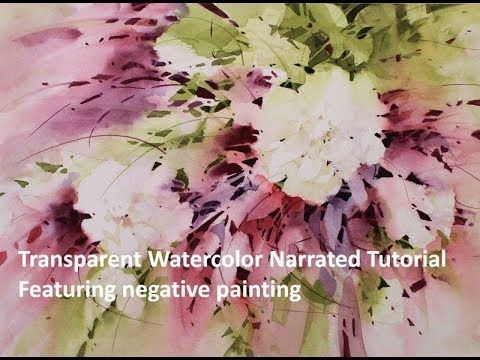 Step By Step Transparent Watercolor Demonstration Floral Burst