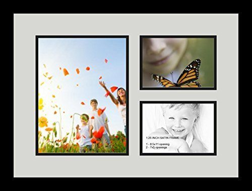 art to frames doublemultimat48075689frbw26079 collage photo frame double mat with 1 85x11 and 2 5x7 openings