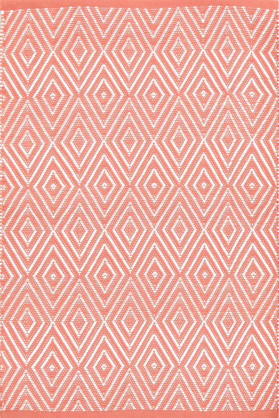 Dash & Albert | Diamond Coral/White Indoor/Outdoor Rug