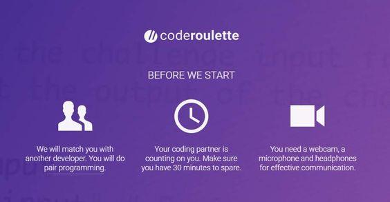 coderoulette una versión de Chatroulette para programadores de todo el mundo https://t.co/yKL5eRNLvn https://t.co/Qrzqz0etqB #CPMX8
