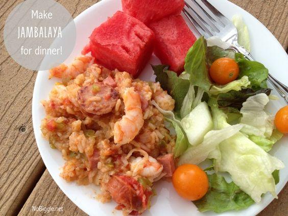 jambalaya recipe via NoBiggie.net