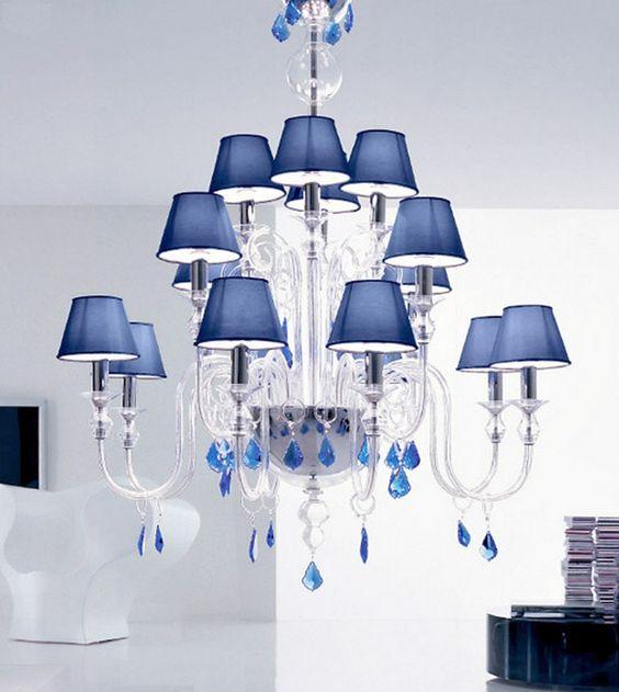 crystal chandelier clear blue - Google keresés