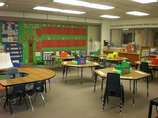 Cute apple-theme classroom