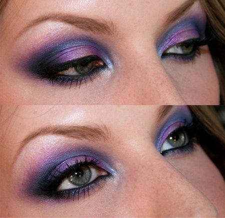 Purple & Blue smokey eye http://www.makeupbee.com/look_Purpleblue-smoke_50930