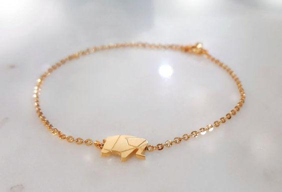 Olifant armband Origami olifant armband / 18 k door cloudyscorpion