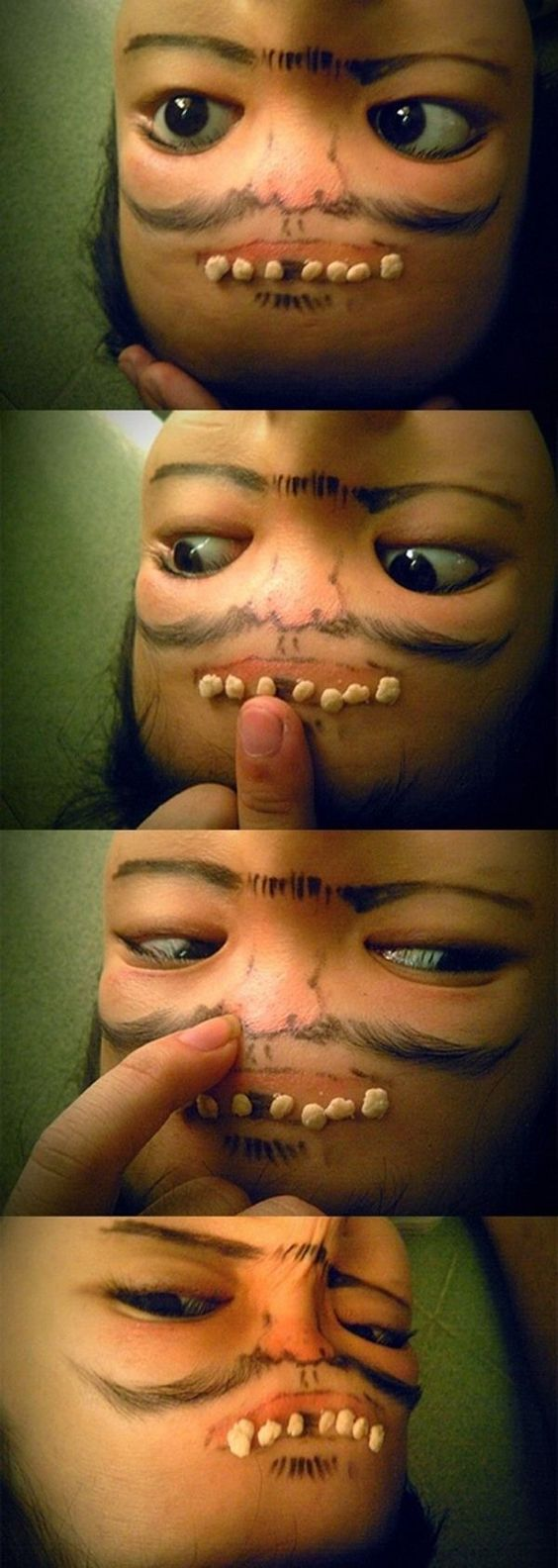 forehead face
