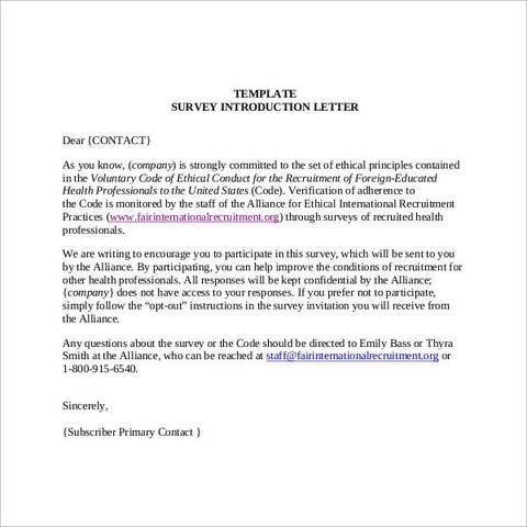 survey introduction letter | Introduction letter, Lettering ...