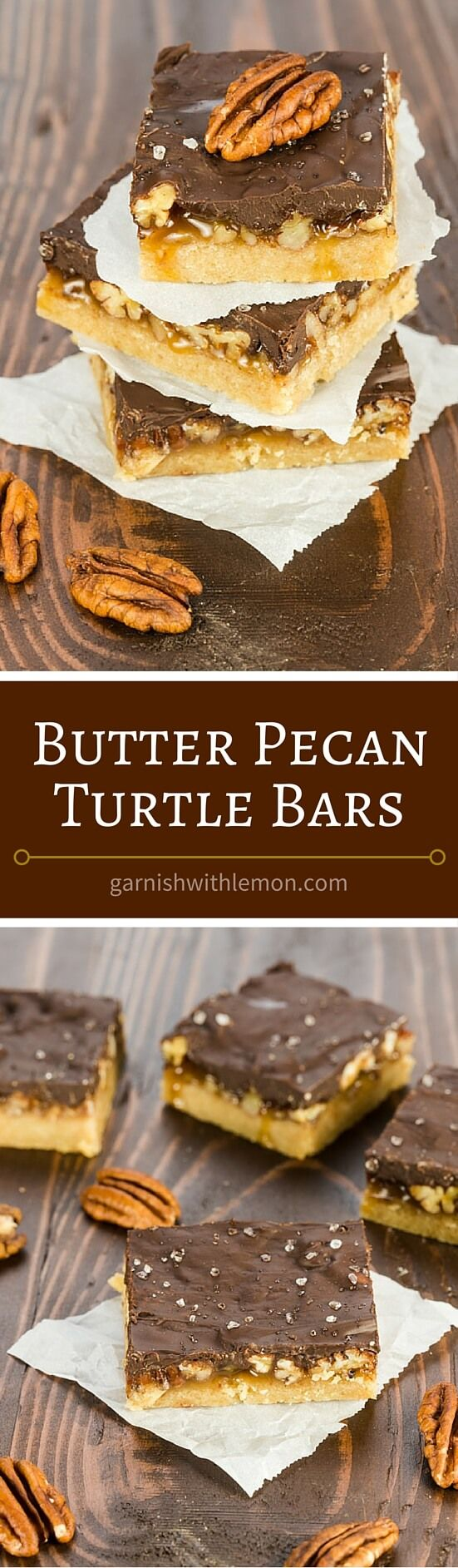 ... but simple Butter Pecan Turtle Bars. ~ http://www.garnishwithlemon.com