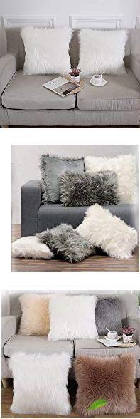 Egal ob als Bett-Vorleger, auf der Couch, dem Stuhl oder im Auto. Das Kunstfell stiftet überall behagliche Wärme.Verleiht auch auf Ihrer Terrasse einen modernen Lounge Style ebenso ein Blickfang auf Ihrem Sofa oder Couch so wird das Wohnzimmer Ihr neuer Lieblingsplatz. Das Lounge Kissen ist waschbar... * Pin enthält Werbelinks