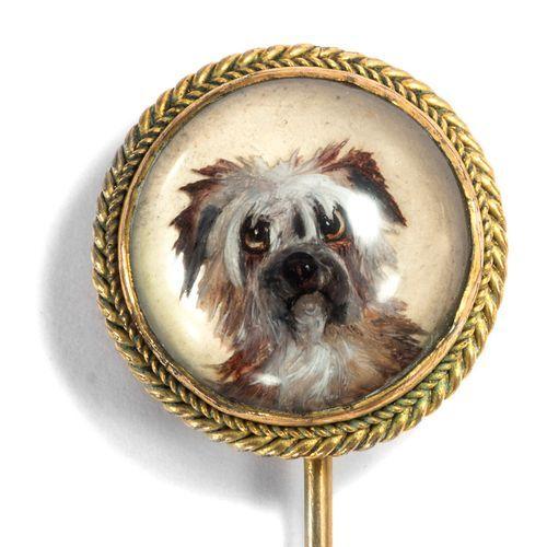 Fabelhafte Gold Nadel Mit Essex Crystal Eines Border Terriers England Um 1890 Border Terrier Terrier Hunde
