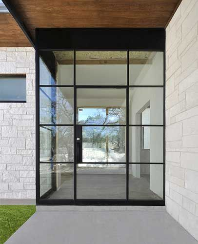 Front Door Side Window Film: Steel Door Entry With Custom Side Panel And Field Welded 2