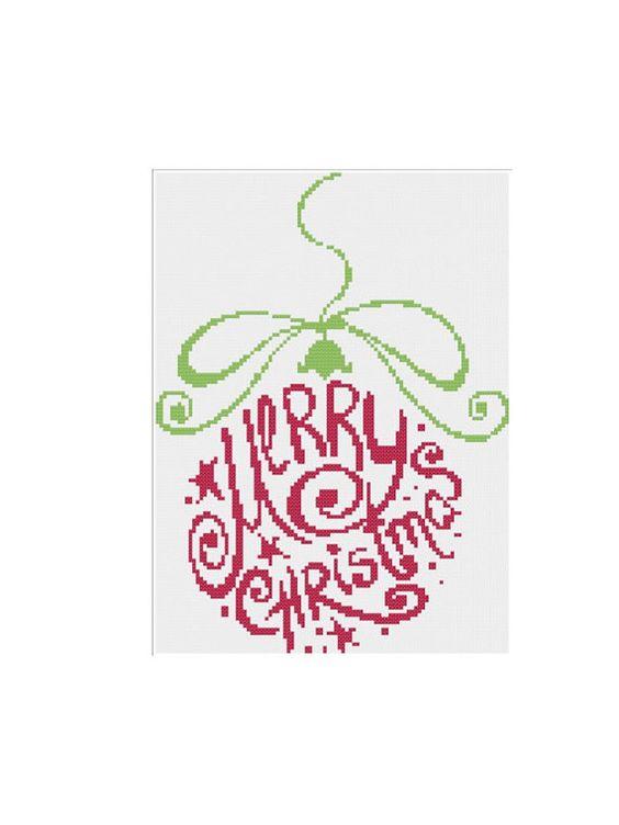 Joyeux Noël point PDF de croix par cinnamonstitches123 sur Etsy