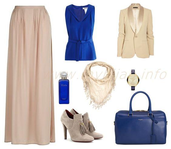professional work clothing blue top w blazer