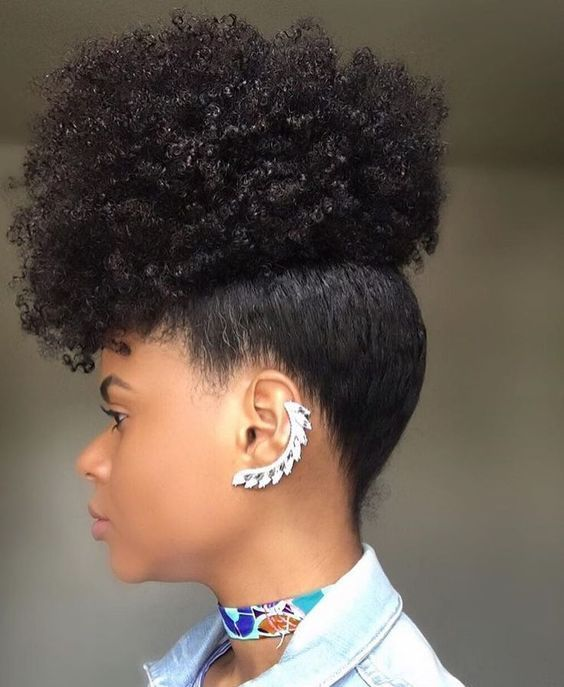 Natural Hair Updo Styling For Black Women To Style Their Hair At Home Natural Hair Updo Hair Styles Natural Hair Inspiration