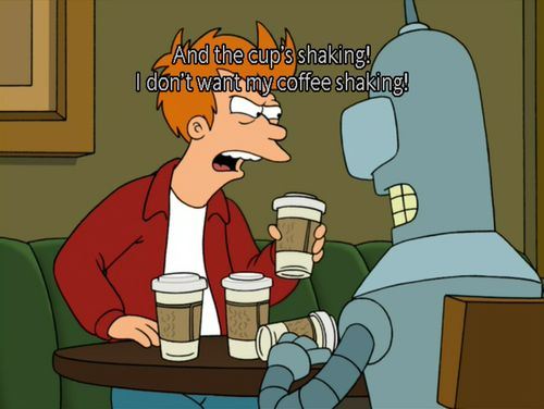 futurama. fry and bender