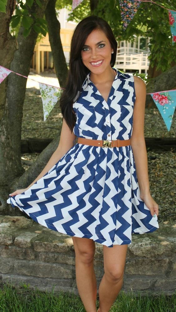 Dottie Couture Boutique - Belted Chevron Dress-Navy, $48.00 (http://www.dottiecouture.com/belted-chevron-dress-navy/)
