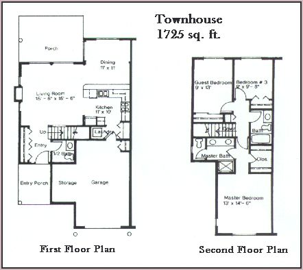 Townhouse plan townhouse pinterest townhouse for Small townhouse floor plans