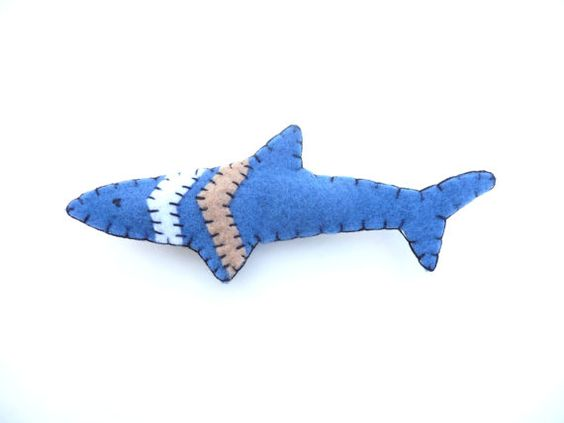 Shark chevron totem animal magnet number 11 by WillowandQuail, $10.00