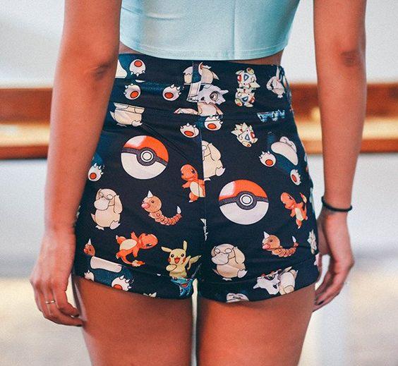 kawaii Pokemon Team Shorts: