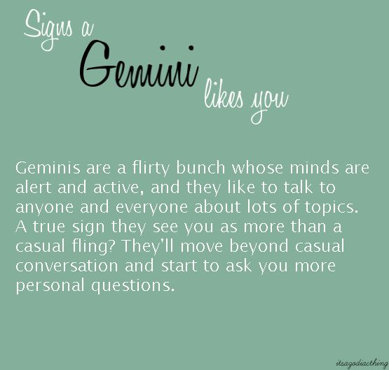 Signs A Gemini Man Really Likes You