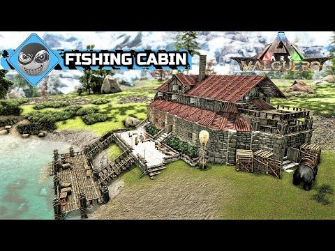 Ark How To Build A House Fishing Cabin Base Design Speed Build Youtube Ark Survival Evolved Bases Ark Survival Evolved Ark Survival Evolved Tips