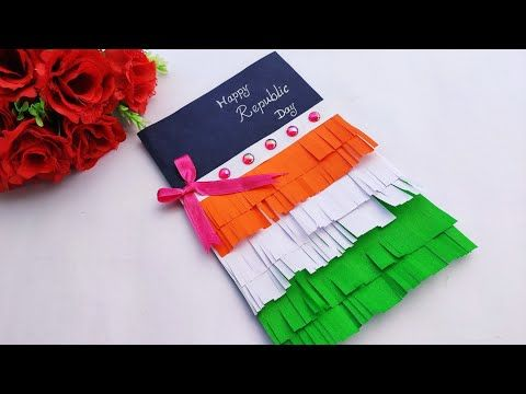 Republic Day Special Greeting Card How To Make Handmade Greeting Card At Home Queen S Home Youtub Greeting Cards Handmade Handmade Greetings Republic Day