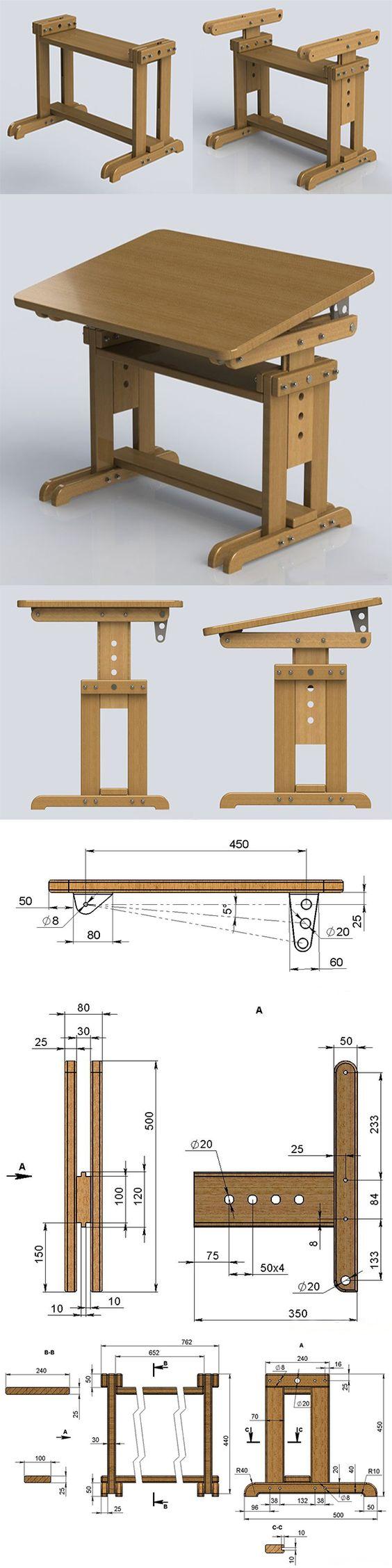 Plano de trabajo dibujo ideas pinterest dibujos for Planos de carpinteria de madera