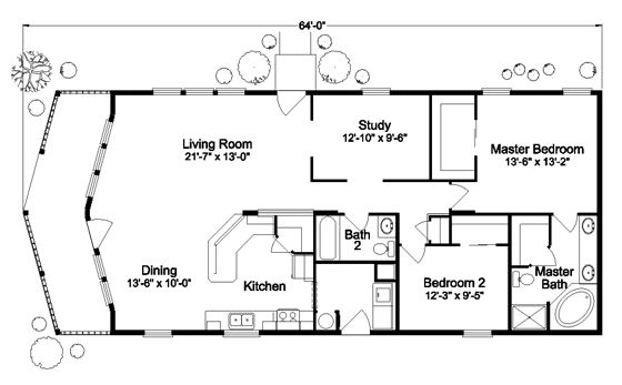 The metolius cabin n5p264k1 home floor plan manufactured for Northern house plans