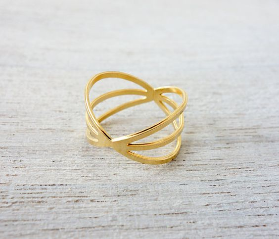Wide Halo Ring, geometric ring, signature ring, space jewelry