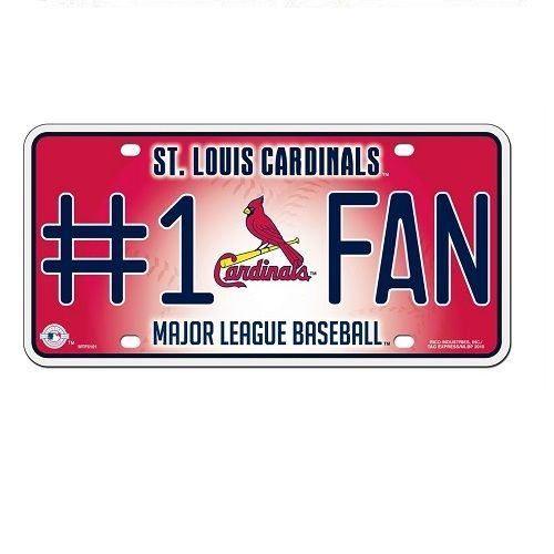 St. Louis Cardinals #1 Fan Metal License Plate