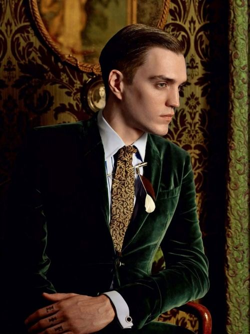 "Swanky forest green velvet blazer. Noice. ""Golden Age"" for GQ ..."
