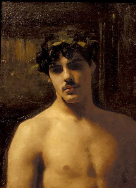 "JOHN SINGER SARGENT: ""Man Wearing Laurels,"" 1874-1880"
