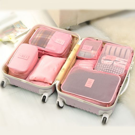 Find More Travel Bags Information about 6pcs/set Fashion Double Zipper Waterproof Polyester Men and Women Luggage Travel Bags packing cubes,High Quality thermometer reading,China thermometer disposable Suppliers, Cheap thermometer color from Summer Holiday Technologies LTD on Aliexpress.com