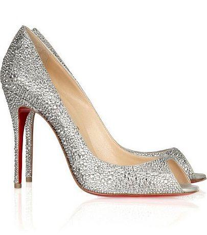 Or perhaps you prefer something a little nicer like these Swarovski encrusted heels by Christian Loubotin. #loubotins #weddingshoes