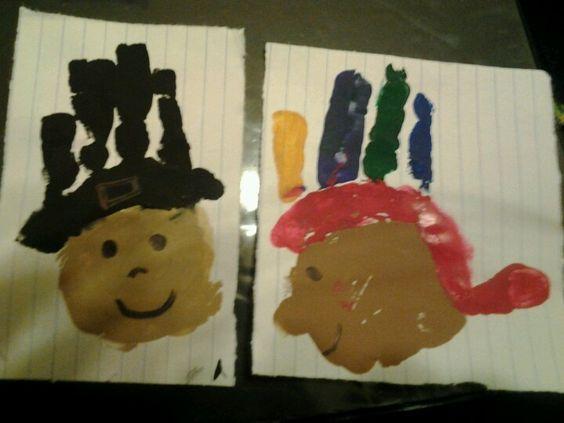 My daughter's handprints