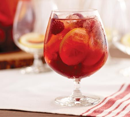 Rose and Summer Fruit Sangria Cocktail Recipe >> #WorldMarket Cheers