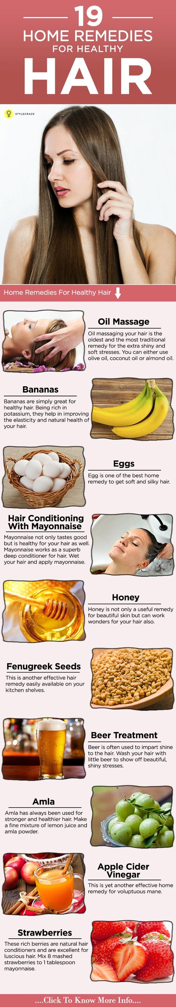 Who doesn't yearn for beautiful locks? Getting healthy and bouncy hair now made easy for you. Read on to know various home remedies for ...