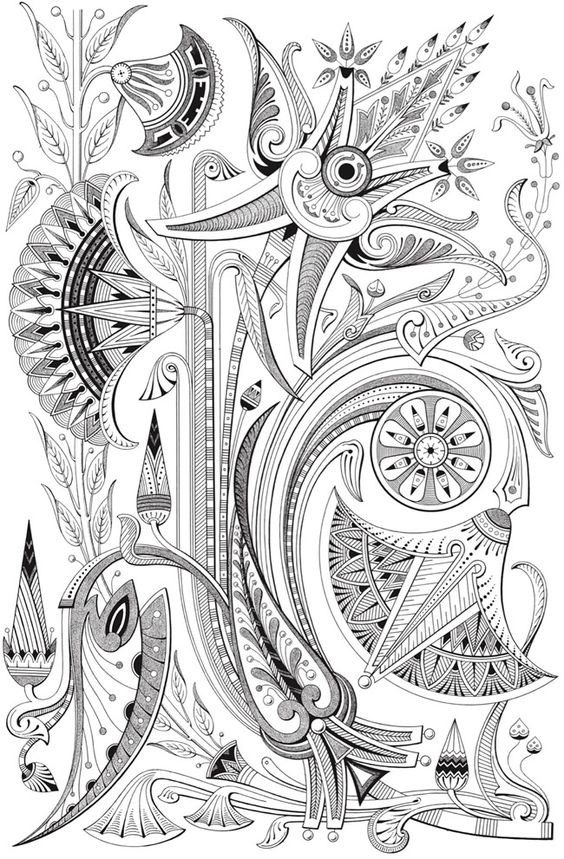 art deco coloring pages - photo#25